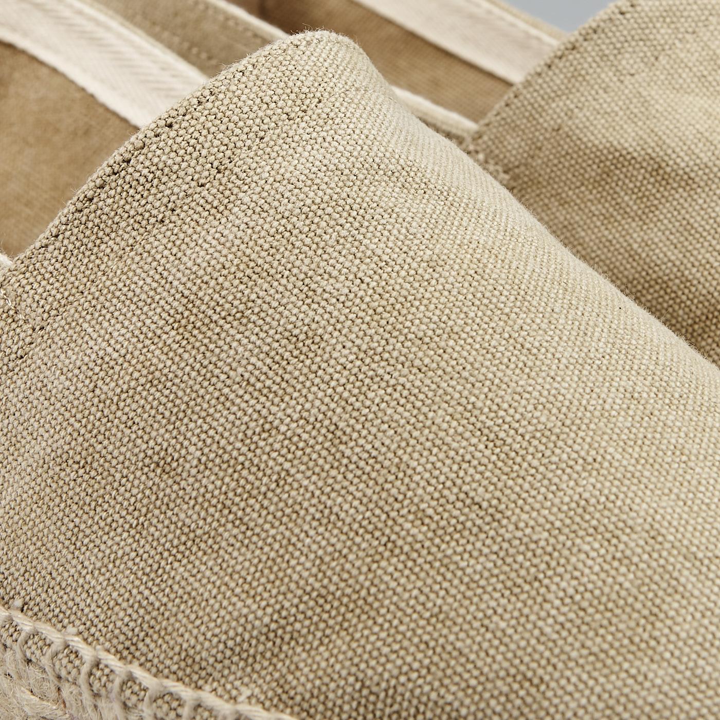 Castañer Sand Beige Cotton Pablo Espadrilles Fabric