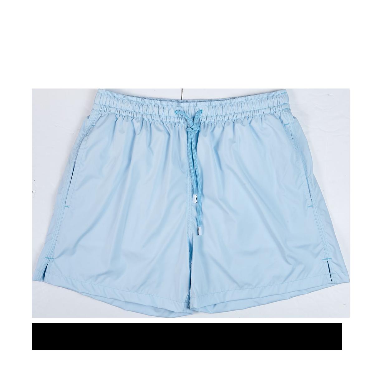 Fedeli Sky Blue Madeira Microfiber Swim Shorts Front