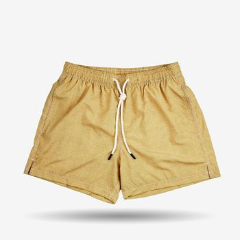 Gran Sasso Yellow Printed Recycled Microfiber Swimshorts Front