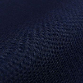 Canali Dark Blue Melange Tropical Wool Suit Trousers Fabric