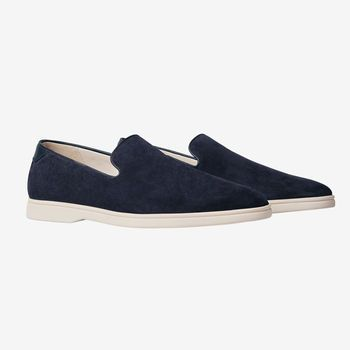 CQP Navy Dinghy Suede Loafer