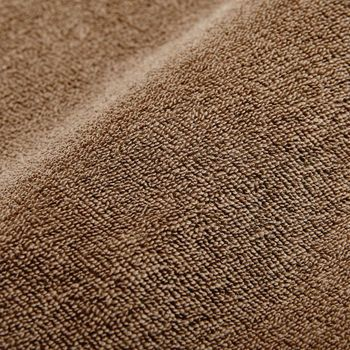 Stenströms Light Brown Cotton Towelling Polo Shirt Fabric