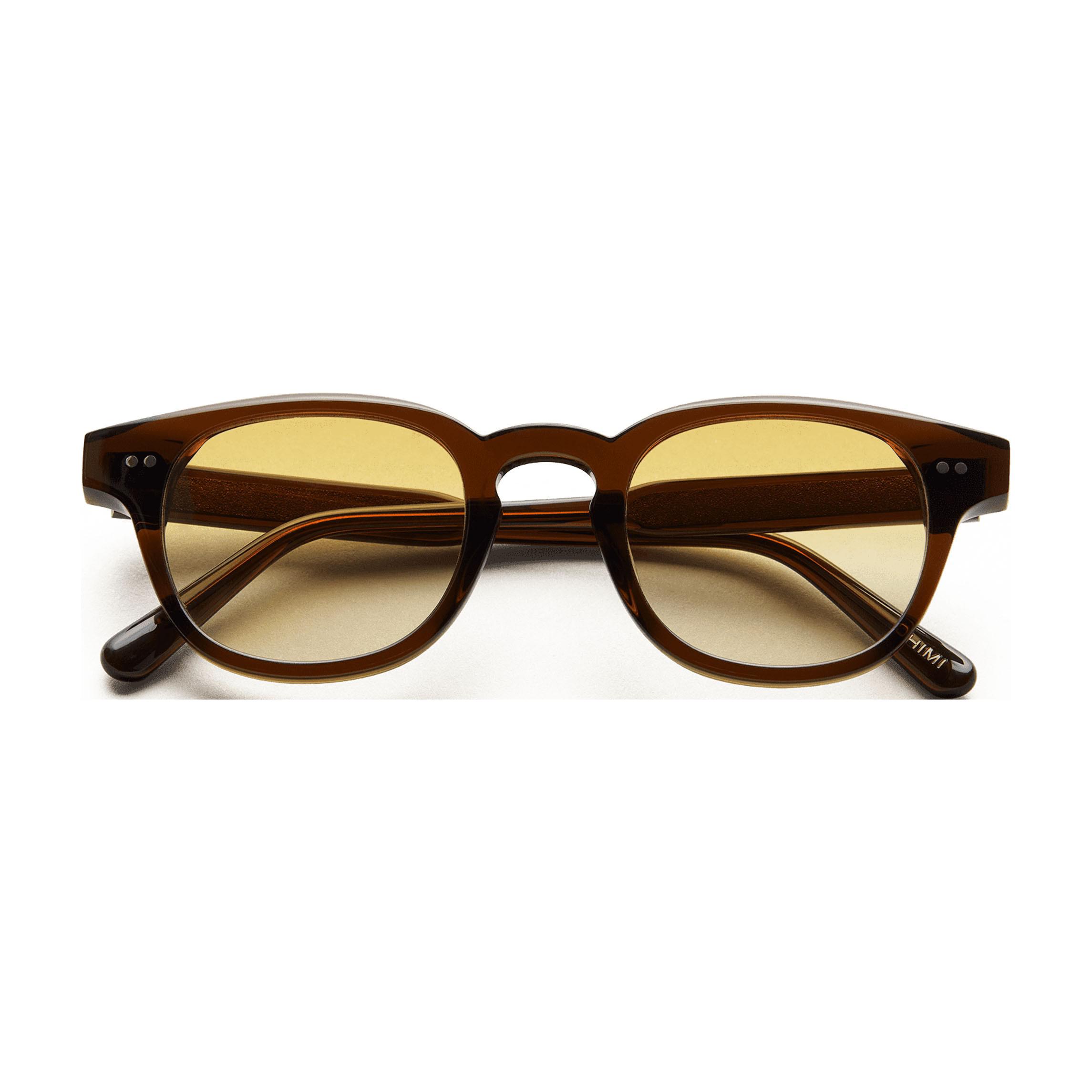 Chimi Eyewear Model 01 Brown Yellow Lenses Sunglasses 46mm Front