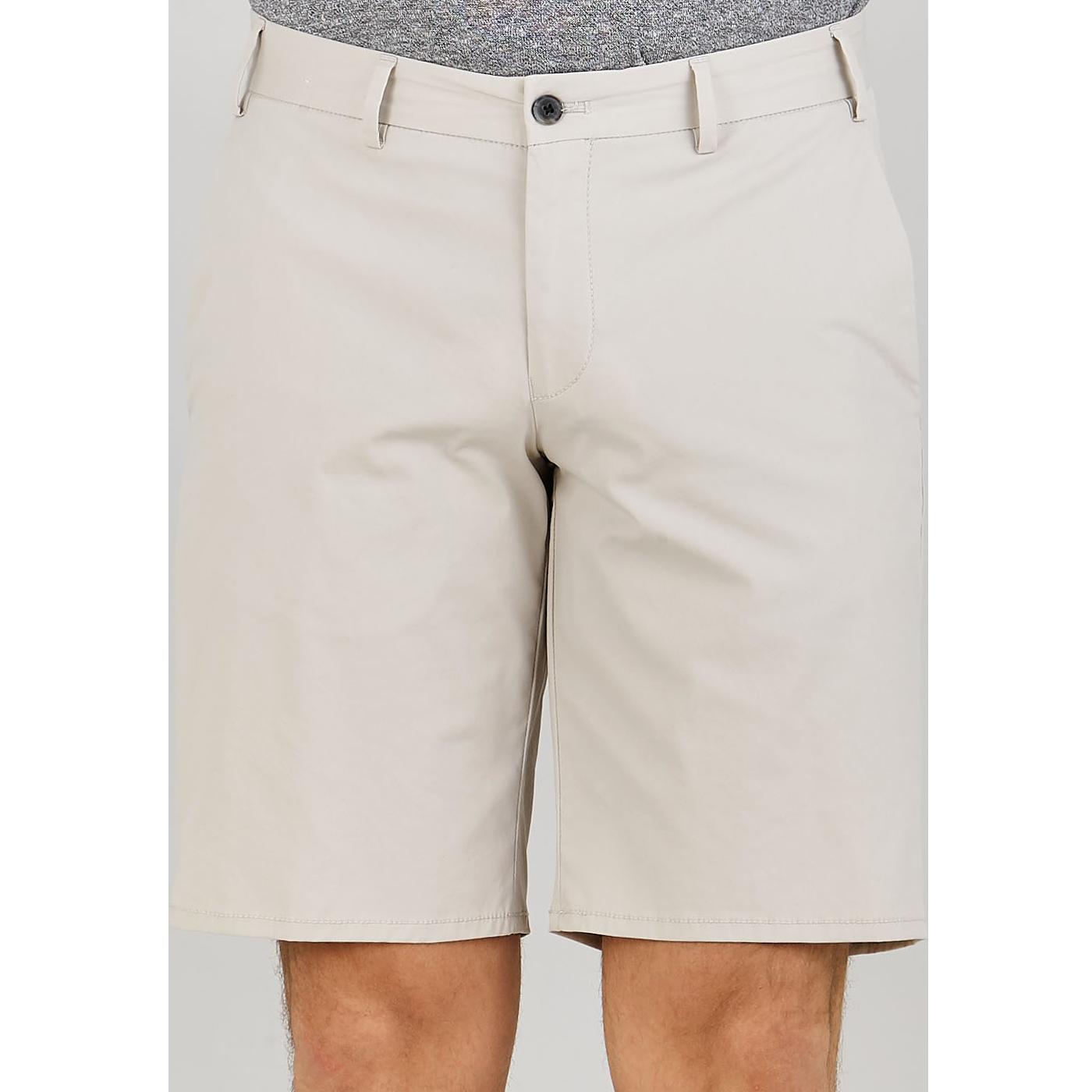 Hiltl Beige Cotton Nylon Traveller Slim Shorts Front