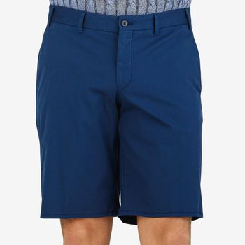 Hiltl Blue Cotton Nylon Traveller Slim Shorts Front