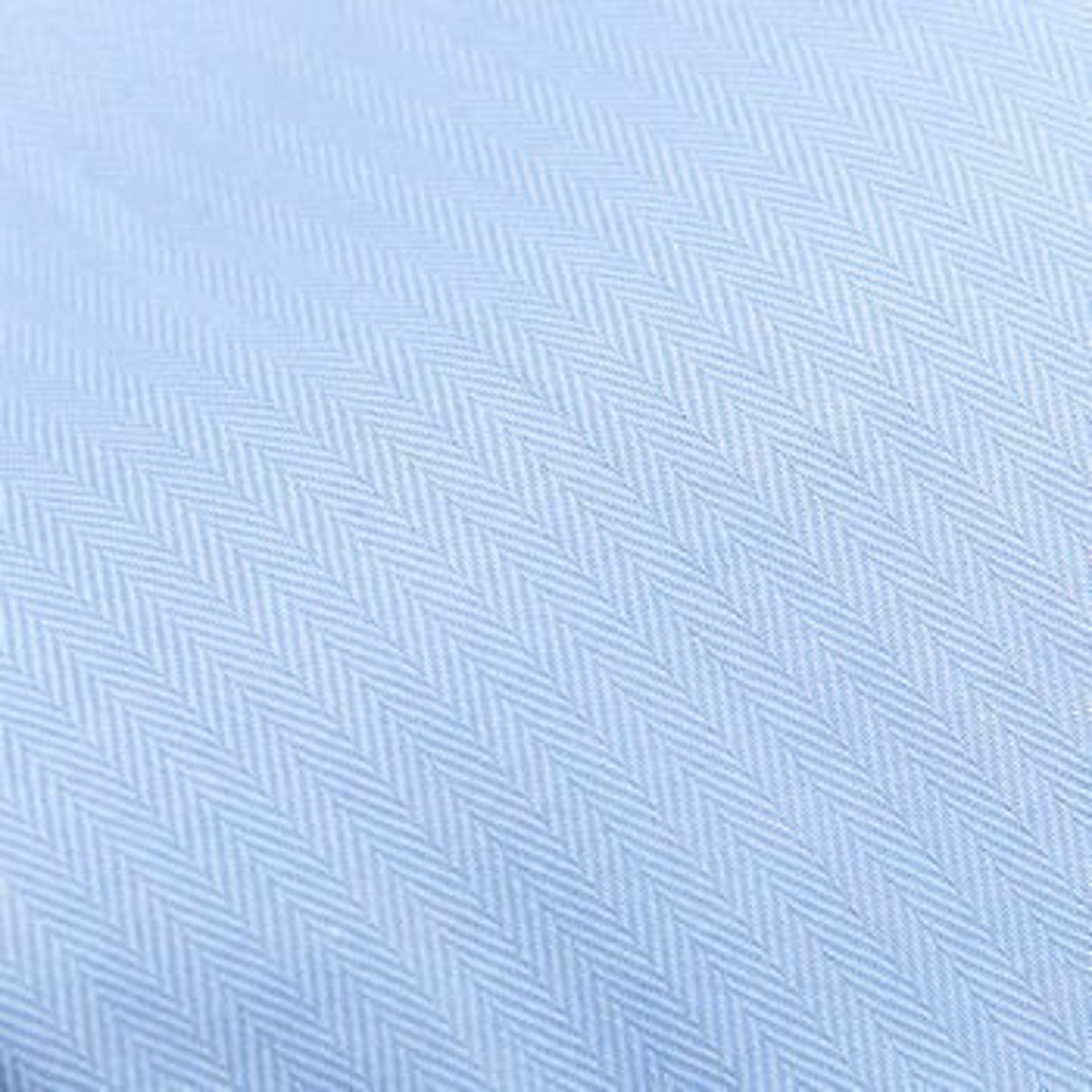 Mazzarelli Blue Cotton Herringbone Cutaway Slim Shirt Fabric
