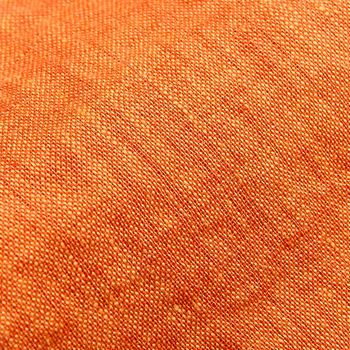 Stenströms Orange Linen Cutaway Slimline Shirt Fabric