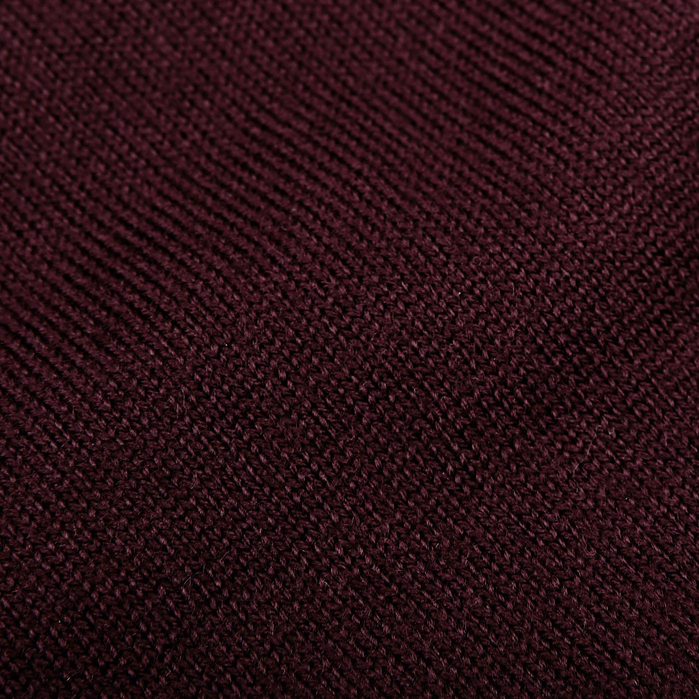 Gran Sasso Burgundy Extra Fine Merino Crew Neck Fabric