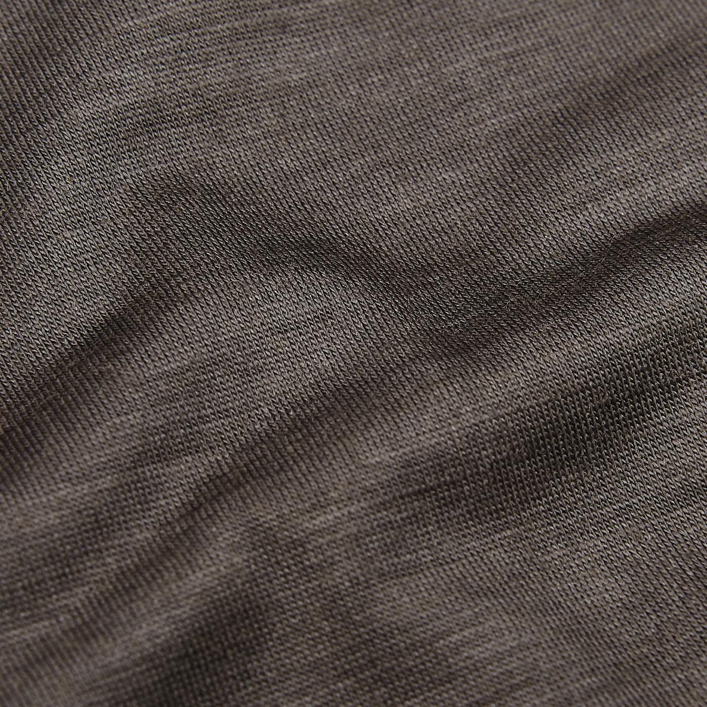 Maurizio Baldassari Brown Active Wool Jersey T-shirt Fabric