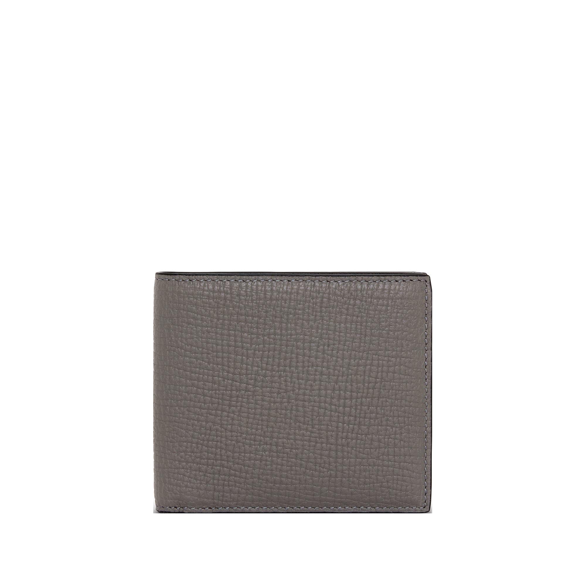 Smythson Dark Steel Ludlow Leather Six Card Wallet Front
