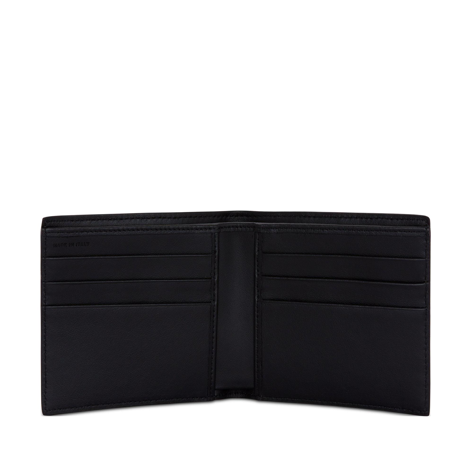 Smythson Dark Steel Ludlow Leather Six Card Wallet Open