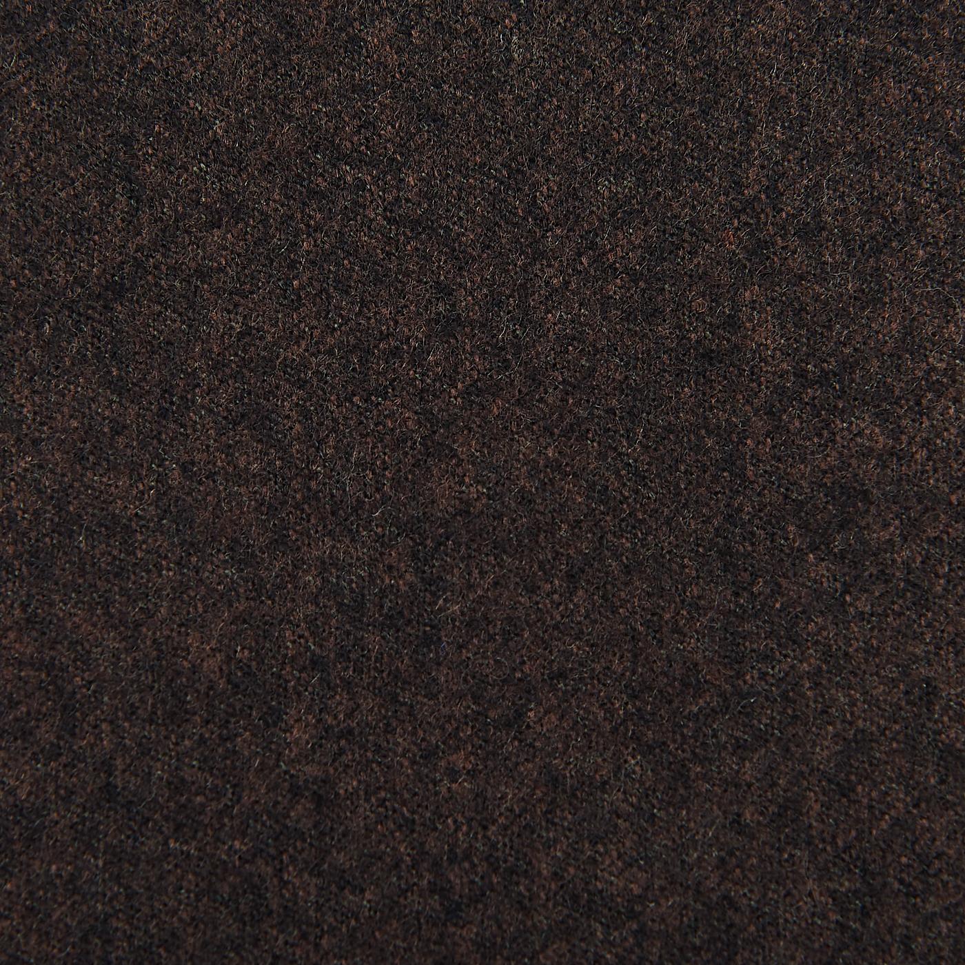 Studio 73 Brown Wool Flannel Pleated Gurkha Trousers Fabric