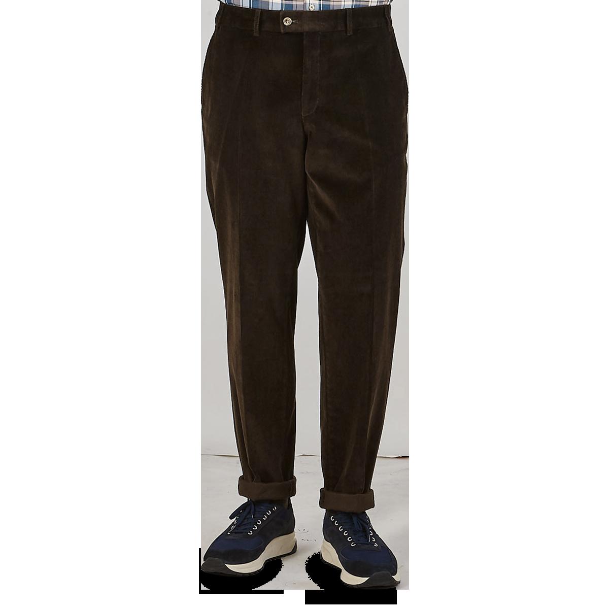 Hiltl Brown Cotton Corduroy Regular Fit Chinos Front