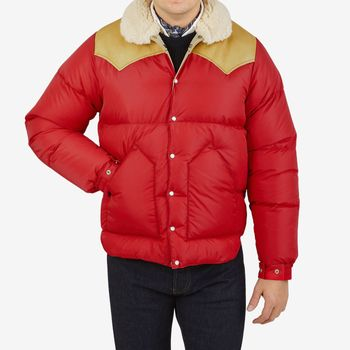 Rocky Mountain Featherbed Red Nylon Suede Christy Jacket Front 1