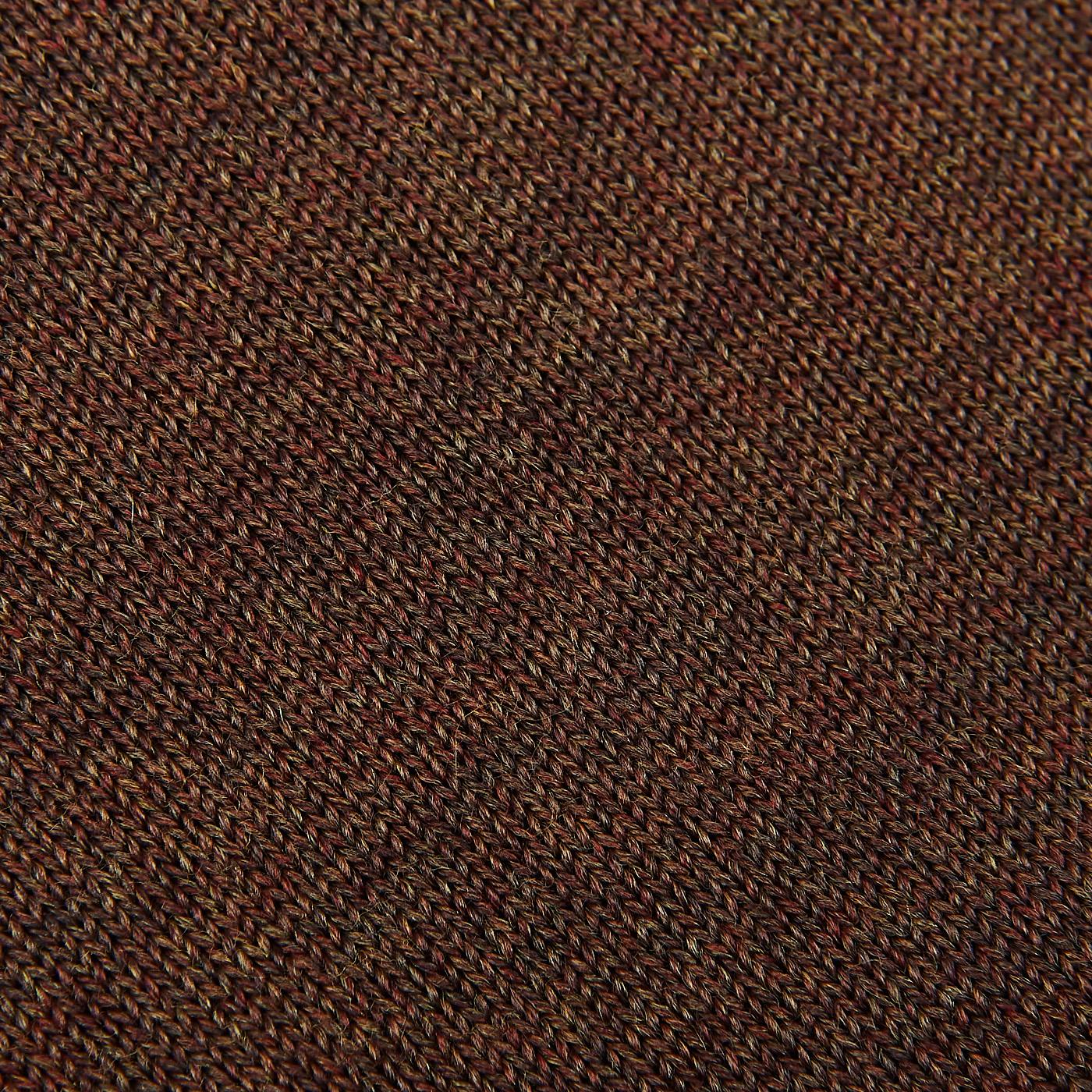 Stenströms Brown Zegna Baruffa Merino Wool Polo Shirt Fabric