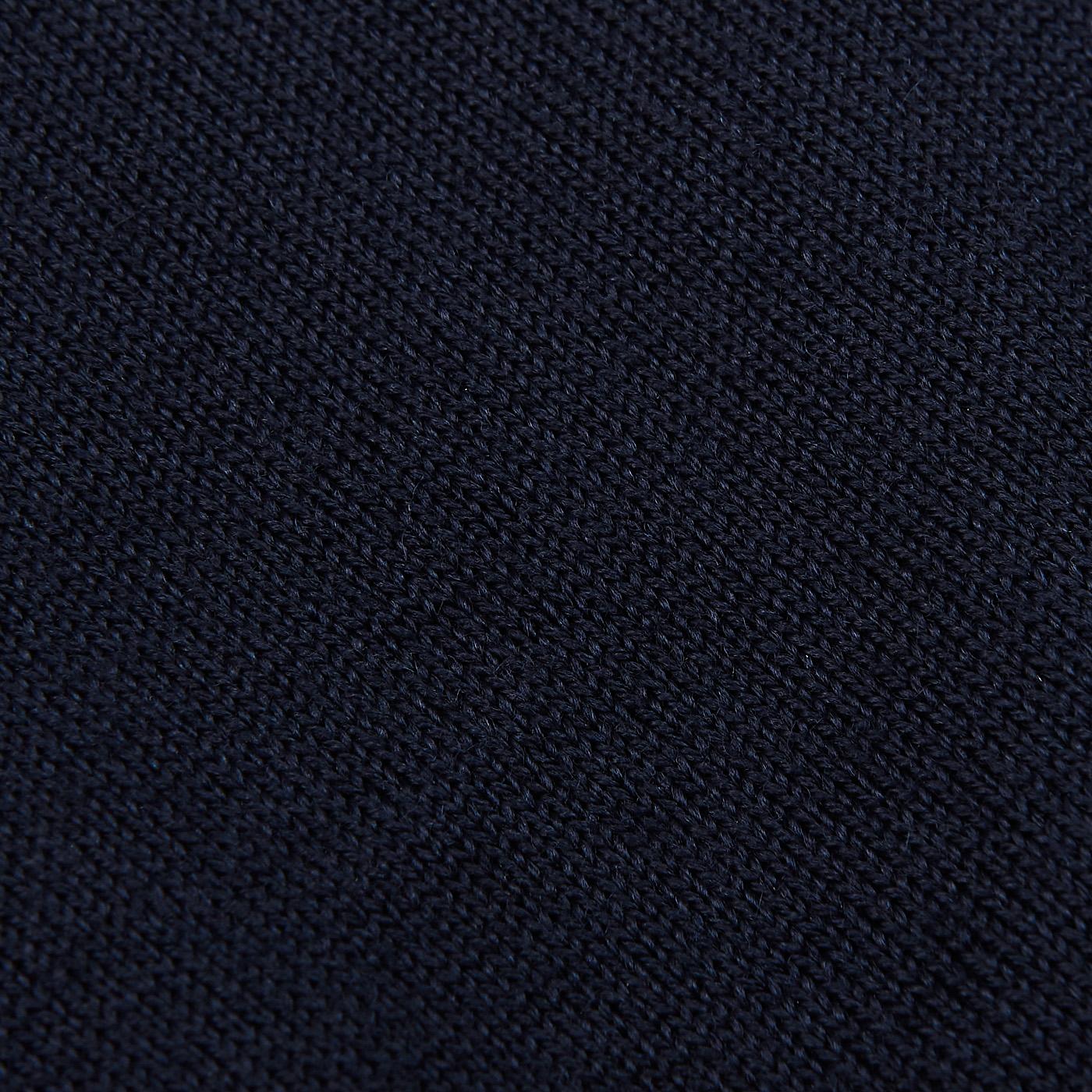 Stenströms Navy Zegna Baruffa Merino Wool Polo Shirt Fabric