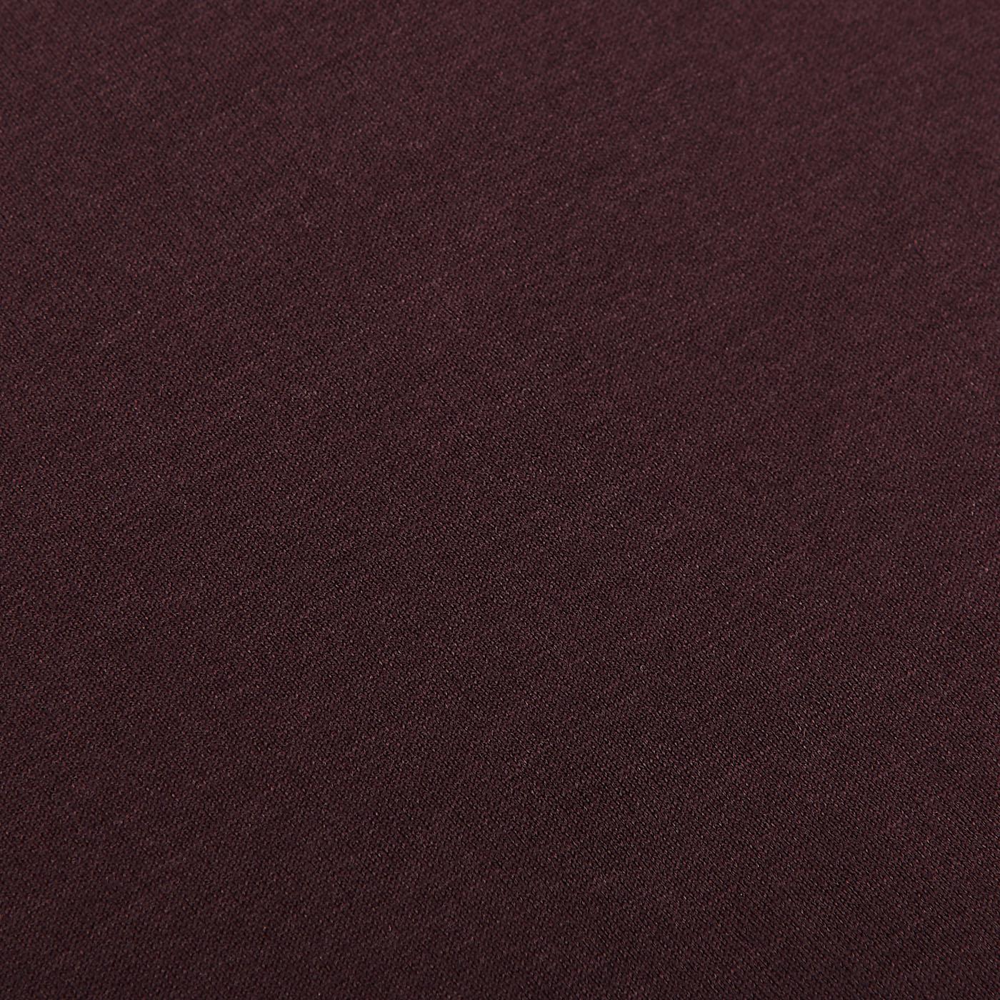 Sunspel Espresso Classic Cotton T-shirt Fabric