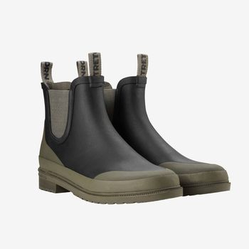 Tretorn Black Green Rubber Offroad Chelsea Boots Feature 1