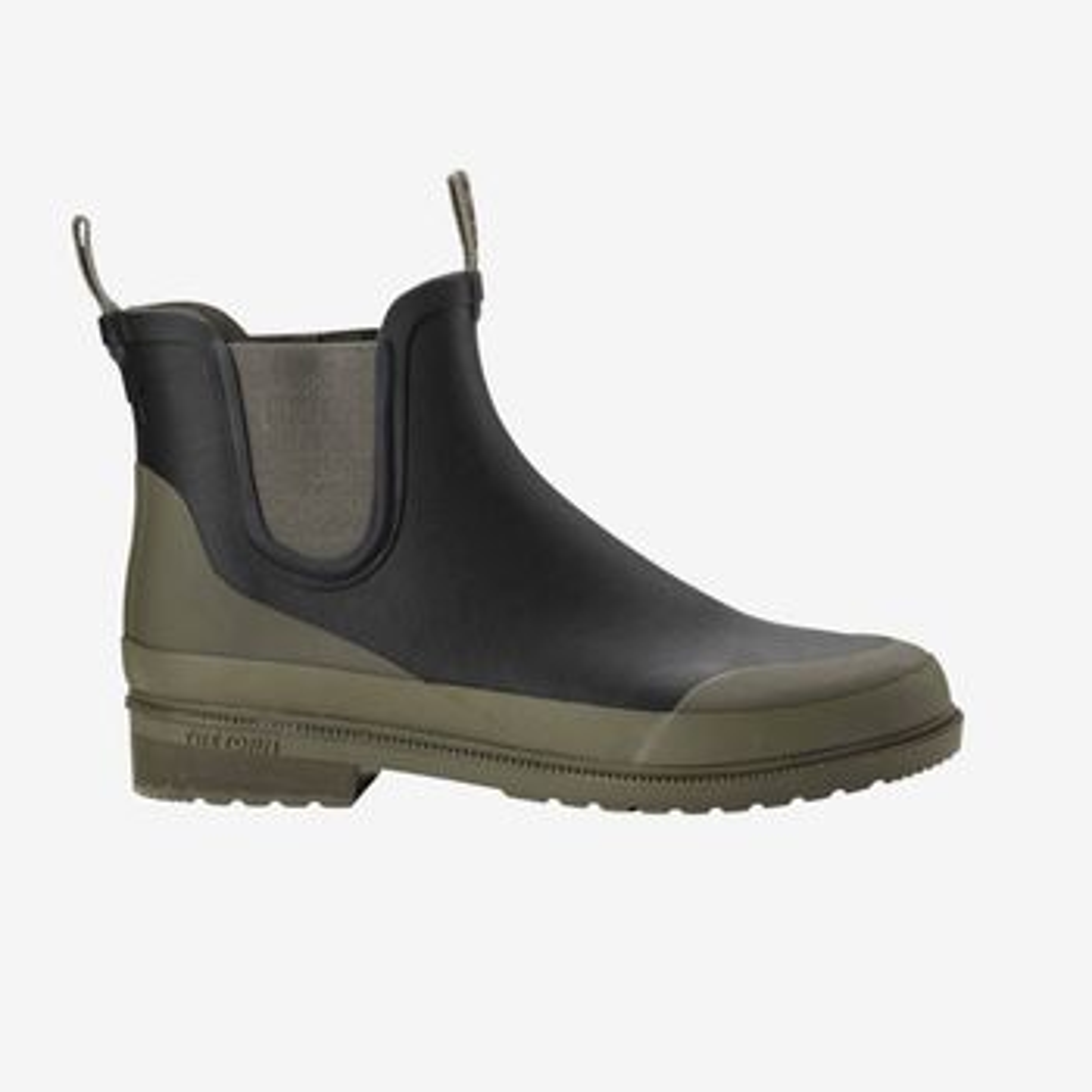 Tretorn Black Green Rubber Offroad Chelsea Boots Side