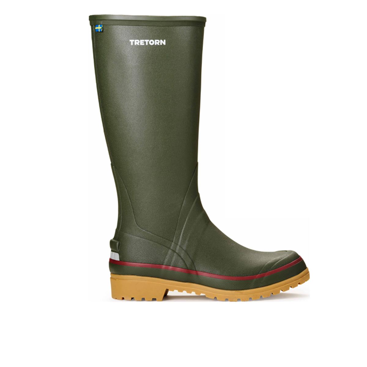Tretorn Green Sarek 72 Rubber Boots Side