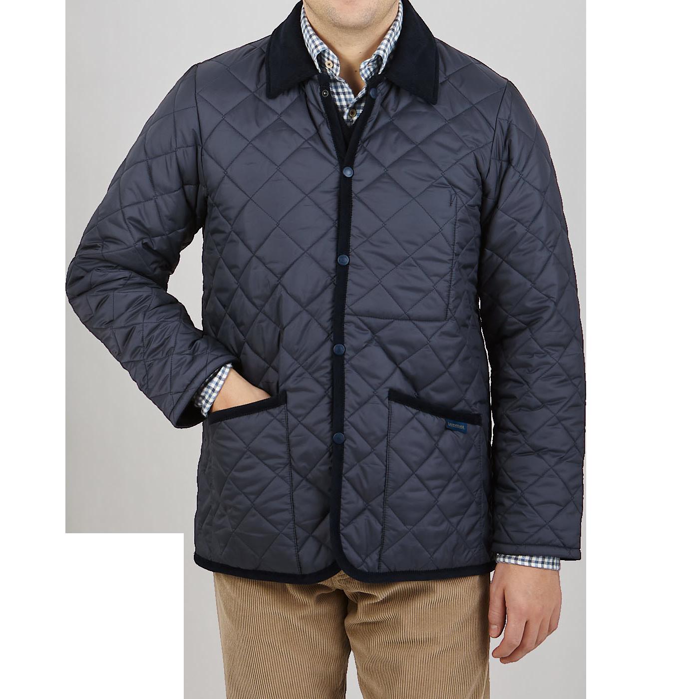 Lavenham Navy Blue Denham Technical Jacket Front